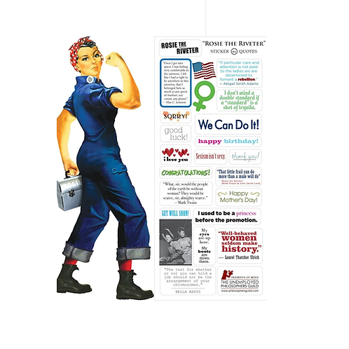Unemployed Philosophers - Rosie The Riveter Card and Stickers