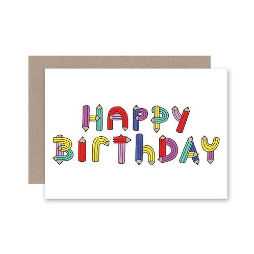 AHD Paper Co - Happy Birthday Pencil Letters