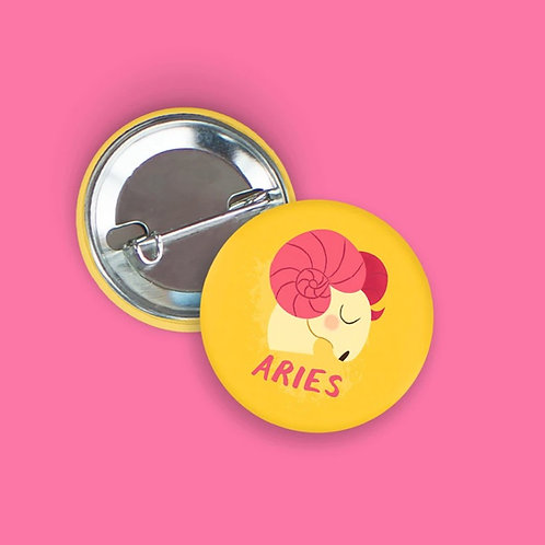 Nicole Marie Paperie - Aries Zodiac Button