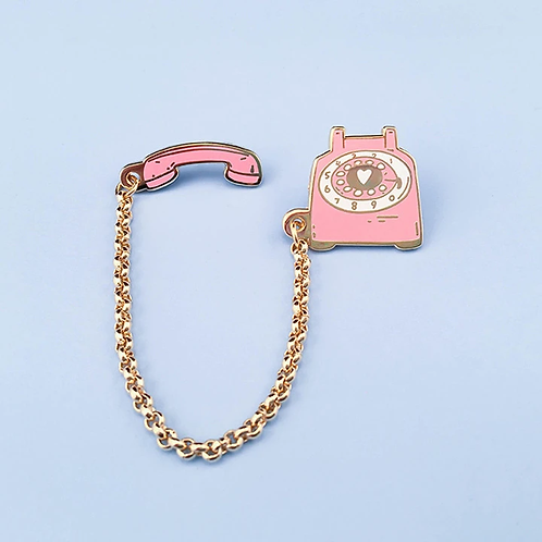 Little Arrow - Pin Rotary Dial Telephone Pin