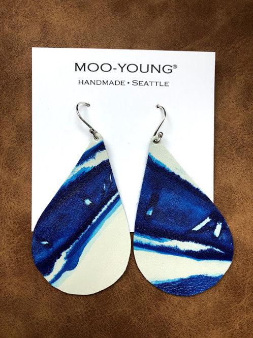 Moo Young Leather Earrings - Big Drops