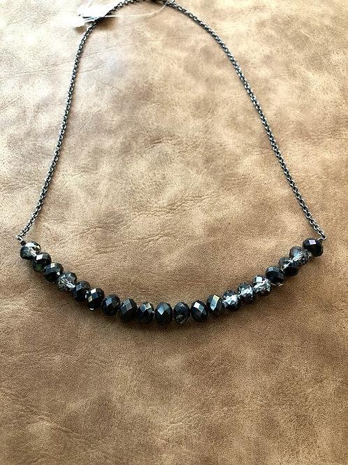 Rachel Eva - Beaded Black And Silver Necklace