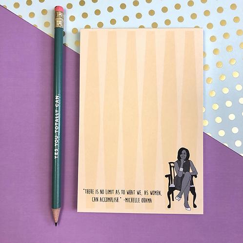 The Card Bureau - Michelle Obama Notepad
