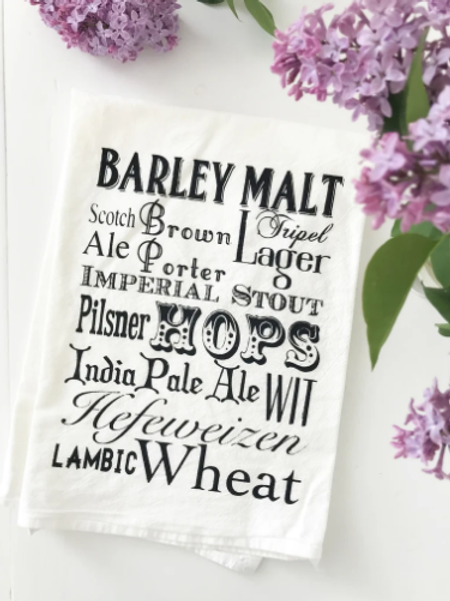 Coin Laundry - Beer Words Kitchen Towel