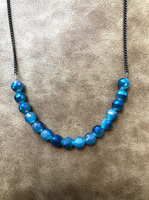 Rachel Eva - Blue Multi Bead Necklace