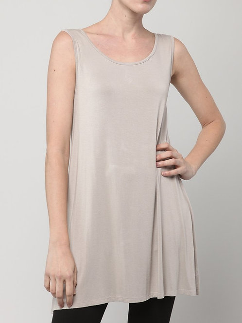 Inae Collection - Long Taupe Tank Top