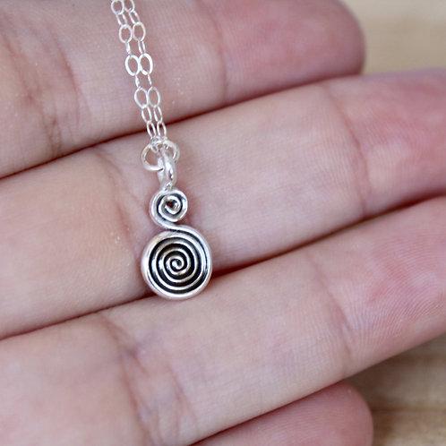 Carruthers Jewelry - Swirl Charm Necklace