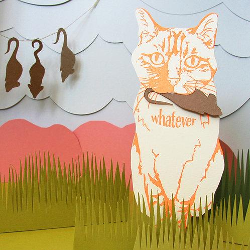 Blackbird Letterpress - Whatever Cat Gift Card