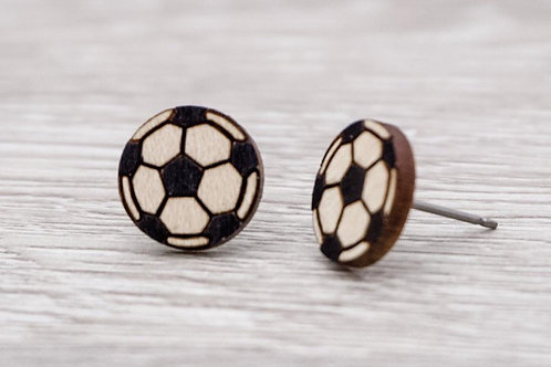 Lumen House - Soccer Stud Earrings