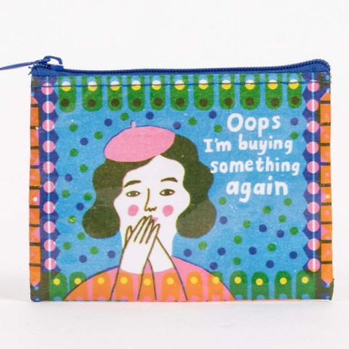 Blue Q - Oops I'm Buying Something Again Coin Purse