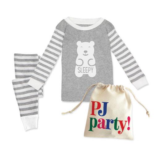 Rock Scissors Paper - Sleepy Bear Kids Pajama Set