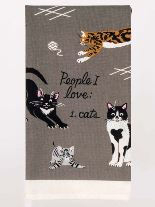 Blue Q - People I Want To Meet: Cats Dish Towel