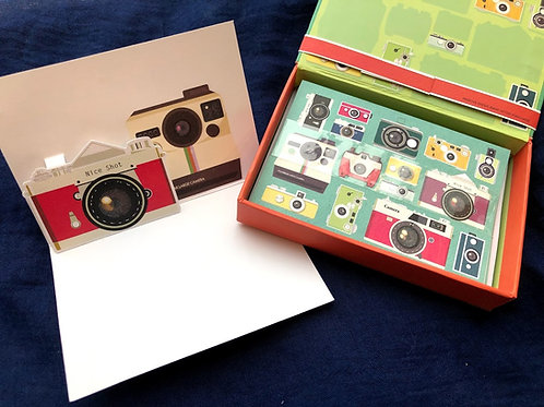 Up With Paper Luxe - Camera Boxed Card Set