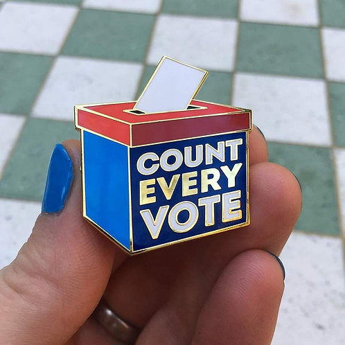 Dissent Pins - Count Every Vote Pin