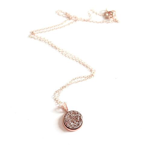Borcik Jewelry - Ava Rose Gold Druzy Necklace