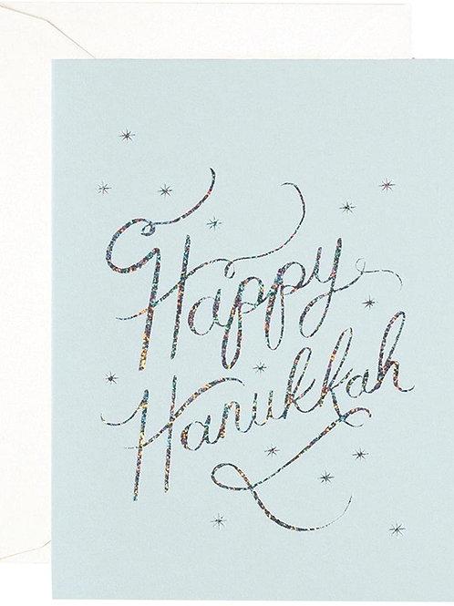 Rifle Paper - Happy Hanukkah Sparkle Card