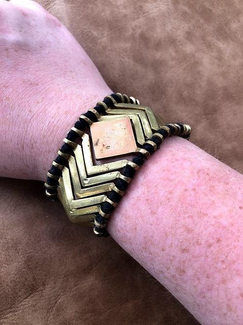 Baizaar - Gold Geometric Bead Bracelet