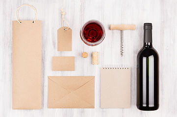 Corporate identity template for wine ind