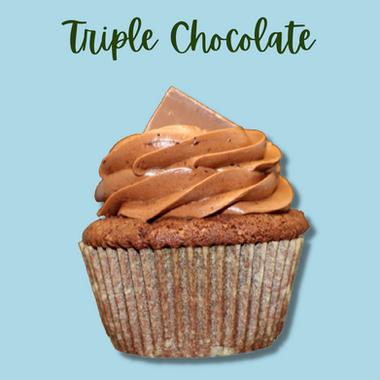 GF Triple Chocolate Cupcake