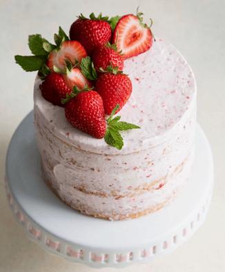 Strawberry Rhubarb Cake