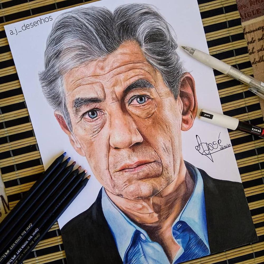 Desenho de aluno do curso Desenhando sem Dom