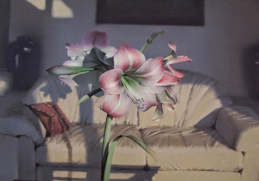 Pintura em tela intitulada Amaryllis do artista Daniel Sprick