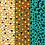 Thumbnail: Pintura em tela ABSTRATO - Abstração com pontos sobre turquesa, marrom e camurça