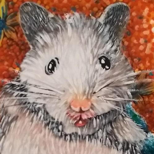 Pintura em tela de HAMSTER - Um hamster