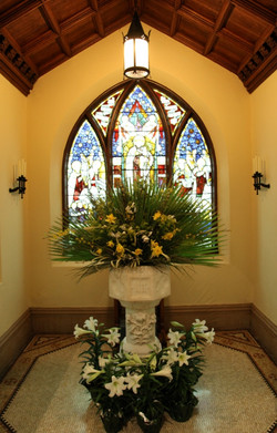 Palm Sunday-Baptistery Font