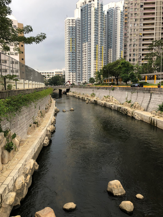 Sampling point along the Kai Tak River in Hong Kong