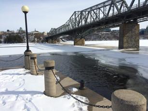 The Alexandra Bridge over the Ottawa River, Canada