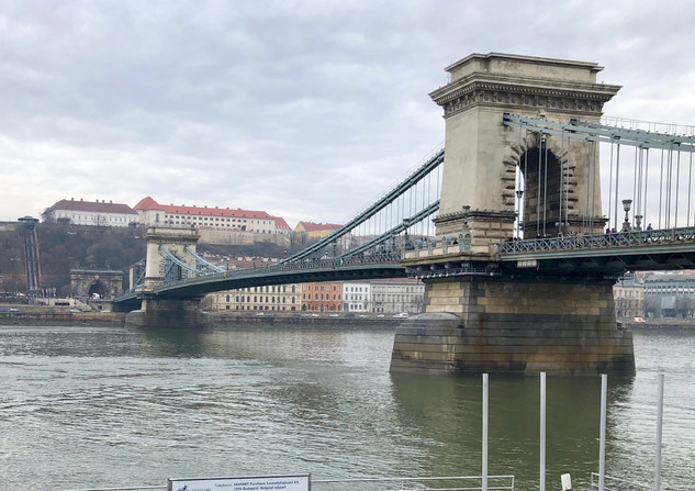 The Danube River as seen in Budapest