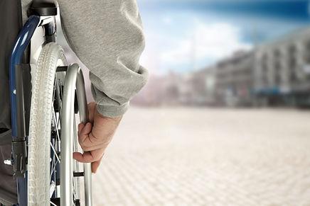 Man siting in a wheelchair