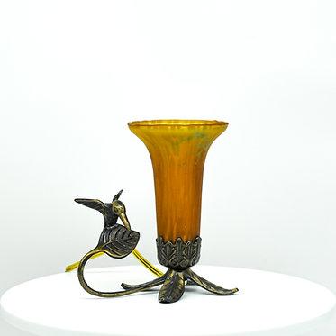 Vintage Tin Chi Bird Lamp