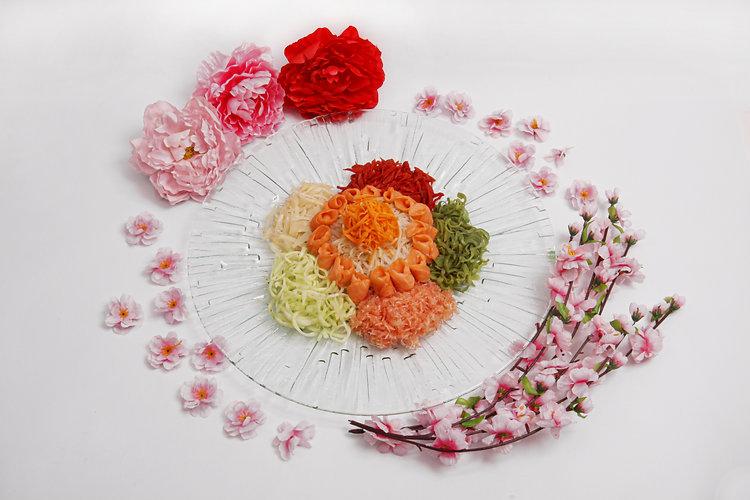 Abundance Glass Art Platters w Yusheng (