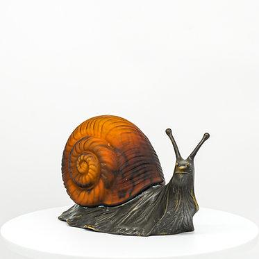Vintage Tin Chi Snail Lamp