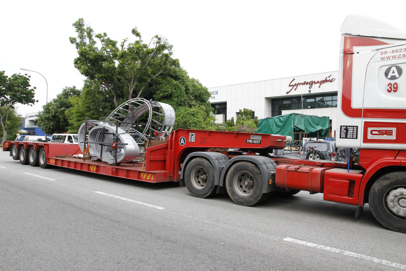 Transport of Sculpture from Workshop to Site