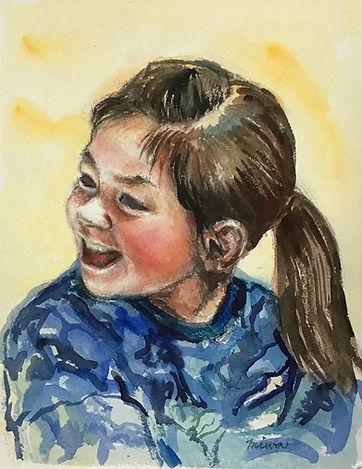 少女の肖像 Japanese girl portrait
