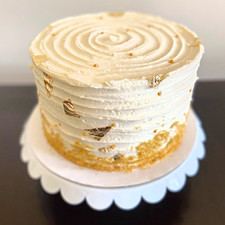 Cake w/ Gold Accents