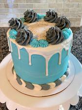 Blue & Grey Baby Shower Cake
