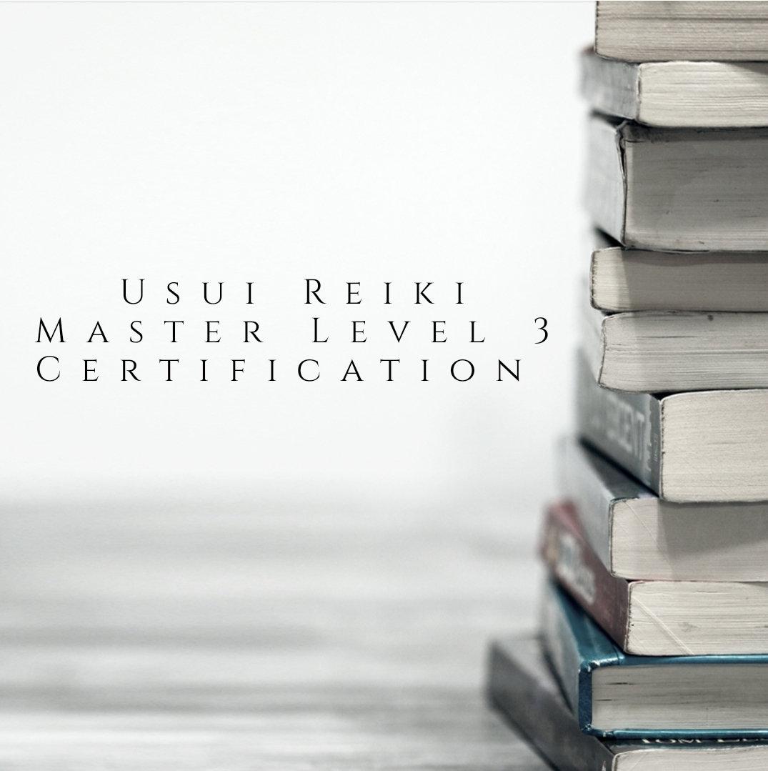 Usui Reiki Master Level 3 Certification