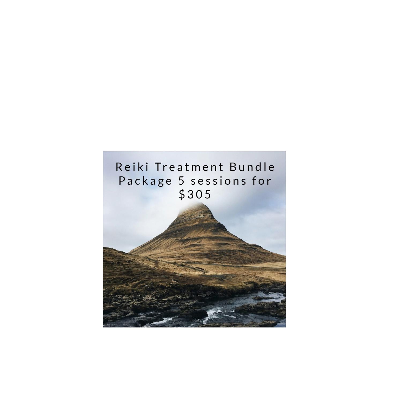 5 Reiki Treatment Bundle Package