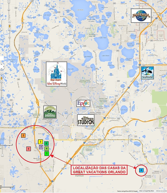 Mapa de Orlando, mapa orlando