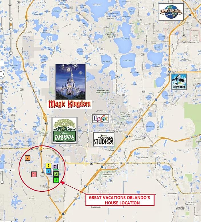orlando map, map of orlando, theme park map, theme park location