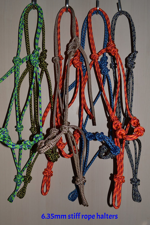 4 KNOT STIFF ROPE HALTERS - 6.35mm -