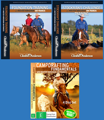 DVD SET OF 3 - PACK 1 (Foundation Training, Stockmans Challenge & Campdrafting)