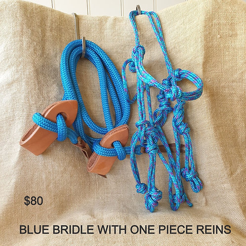 ROPE BRIDLES AND REIN SETS