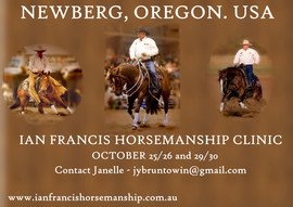 IAN FRANCIS HORSEMANSHIP CLINIC NEWBERG, OREGON. USA