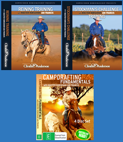 DVD SET OF 3 - PACK 2 (Reining Training, Stockmans Challenge & Campdrafting)