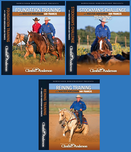 DVD SET OF 3 - PACK 3 (Foundation Training, Stockmans Challenge & Reining)
